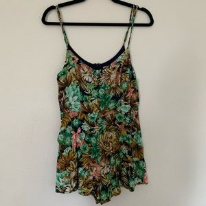 Tropical Summer Spaghetti Strap Romper
